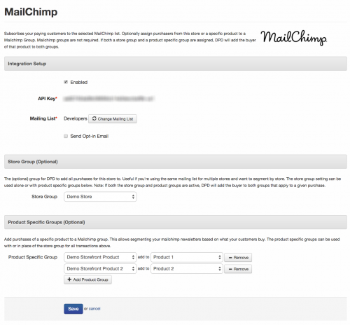 Mailchimp Group Support